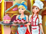 Anna&Cinderella at Cupcakes Factory